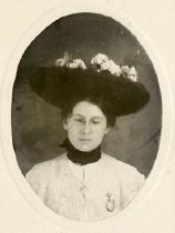 Image of Unidentified Woman in Hat -