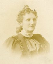 Image of Woman in Dress with High Collar - Cain, C.T.