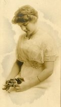 Image of Young Woman in Lace Dress -