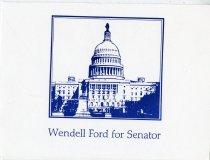 Image of Senator Wendell Ford & Senator Lloyd Bentsen reception [invitation] -