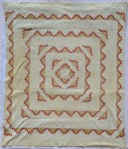 Image of Delectable Mountains Variation pattern quilt - Quilt