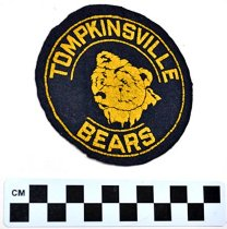 Image of Felt Patch   Tompkinsville Bears shoulder patch
