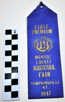 Image of KM2013.22.30 - Monroe County, KY Fair Ribbon