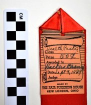 Image of Monroe County, KY fair ribbon (back view)