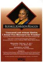 Image of Bernice Johnson Reagon Performance Postcard - Cultural Enhancement Committee (WKU)