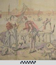 Image of Venetian themed tapestry (detail)