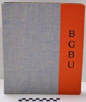 Image of KM2014.22.2 - Bowling Green Business University three ring binder