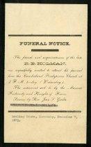 Image of R. B. Holman [funeral invitation] -