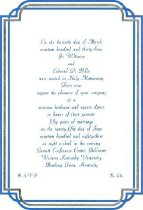 Image of Mr. & Mrs. Edward Di Bella anniversary invitation - Board of Regents of Locust Grove