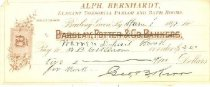 Image of Alph. Berhardt, Elegant Tonsorial Parlor and Bath Rooms, Bowling Green, Ky. bank check -