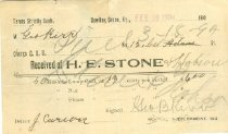 Image of H. E. Stone & Hobson receipt -