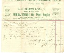 Image of J. B. Sumpter & Bro., Dr., contractors for painting, graining and paper hanging, Bowling Green, Ky., invoice -