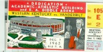 Image of Dedication of Academic-Athletic Building and E. A. Diddle Arena : Western Kentucky vs. Vanderbilt ticket -