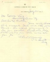 Image of Lairsville Lodge No. 533, F. & A. M. letterhead -