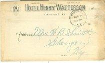 Image of Hotel Henry Watterson, Louisville, Ky., envelope -