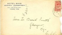 Image of Hotel Ohio, American Headquarters, Havana, Cuba, envelope -