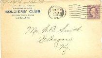 Image of Soldiers' Club, Louisville, Ky., envelope -