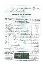 Image of L. D. Rasdall, Smith Grove, Ky. invoice -
