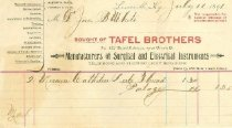 Image of Tafel Brothers invoice -