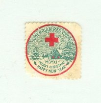 Image of American Red Cross Christmas seal, 1911 -