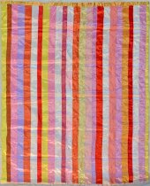 Image of 2001.12.1 - Funerary Ribbon Quilt Top
