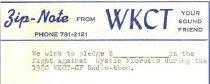 Image of Cystic Fibrosis Radio-thon pledge card -