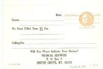 Image of Blank Medical Services Prescription card -