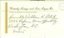 Image of Kentucky Savings and Loan League, Inc., Louisville, Ky. envelope -