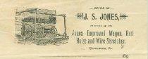 Image of J. S. Jones letter