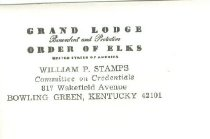Image of Grand Lodge Benevolent and Protective Order of Elks [envelope] -