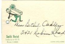 Image of Smith Florist envelope