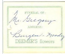 Image of Deemer's flowers. [enclosure card] -