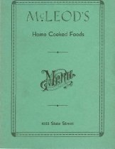 Image of McLeod's home cooked foods menu