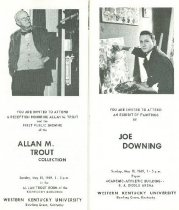 Image of Downing & Trout exhibits [pamphlet] - Western Kentucky University