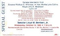 Image of Honoring Senator Lloyd M. Bentsen Jr. [Special Guest ticket] -