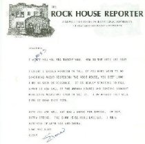 Image of Rock House Reporter [stationery] -