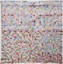 Image of Yo-yo Quilt - Quilt, Bed