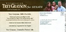 Image of About abortion, Rand Paul is... [political flier] -