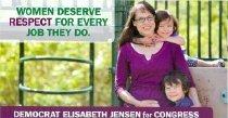 Image of Elisabeth Jensen for Congress [political card] -