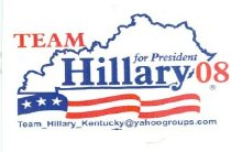 Image of Team Hillary for President 08 [decal] -