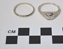 Image of KM2015.15.5 - Engagement and Wedding Ring Set