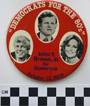 Image of 1983.43.110 - Kennedy-Brown-Collins political button 1979