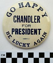 "Image of 1983.43.186 - Albert ""HAPPY"" Chandler for President political button"