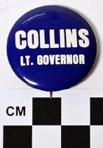 Image of Martha Layne Collins political button - Button, Political