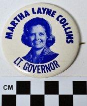 Image of 1983.43.282 - Martha Layne Collins photo button
