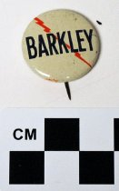 Image of Alben Barkley political button - Button, Political