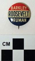 Image of Barkley-Roosevelt-Truman political button