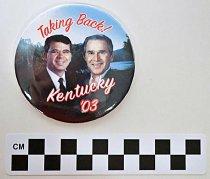 Image of George Bush - Ernie Fletcher poltiical button