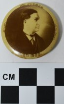 Image of William Goebel memorial photo button - Button, Political