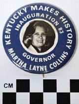 Image of 1984.12.5 - Martha Layne Collins inauguration button